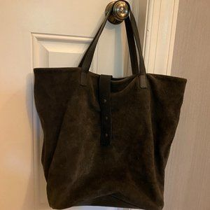 Eileen Fisher Suede tote purse bag